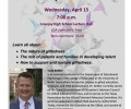 "REMINDER: The LGA presents ""Talent Development"" April 15"