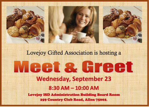 Lovejoy Gifted Association Meet & Greet